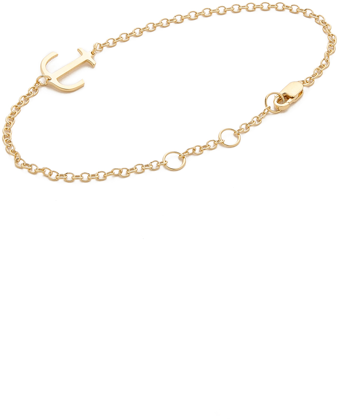Jennifer Zeuner Jewelry Mini Anchor Charm Bracelet