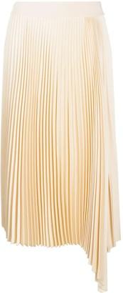 Joseph Asymmetric Pleated Skirt