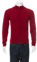 Calvin Klein Collection Virgin Wool Zip-Up Sweater