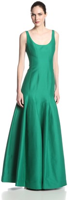 Halston Women's Jacquard Tulip Hem Evening Gown