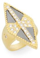 Freida Rothman Pavé Two-Tone Diamond-Shaped Ring