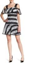 ABS by Allen Schwartz Ruffle Lace Drop Waist Dress