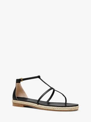 Michael Kors Annabeth Leather Sandal