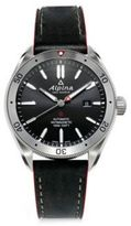 Alpina Leather Strap Analogue Watch