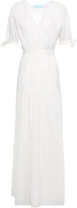 Melissa Odabash Emily Tie-back Wrap-effect Woven Maxi Dress