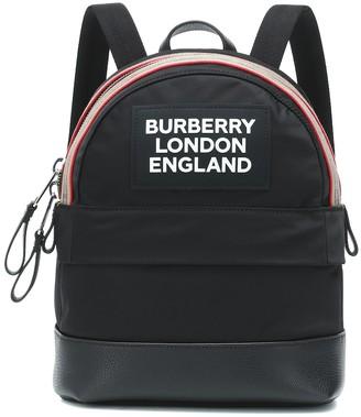 BURBERRY KIDS Logo nylon backpack