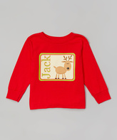 Swag Red Reindeer Personalized Tee - Toddler & Boys