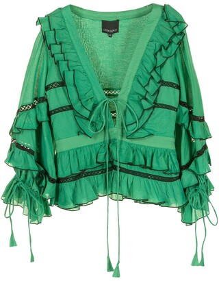 Cynthia Rowley Stella ruffle blouse