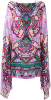 Roberto Cavalli loose sleeve dress - women - Silk - 44