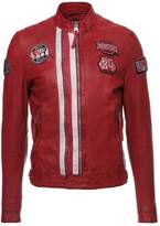 Redskins Reese Calista Leather Jacket Red/ice
