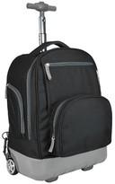 Pacific Gear Treasureland Hybrid Lightweight Rolling Backpack - Black
