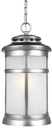 Feiss Newport Outdoor Hanging Lantern - Brushed Steel