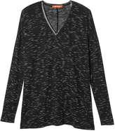 Joe Fresh Women's Space Dye Tee, Black (Size XL)