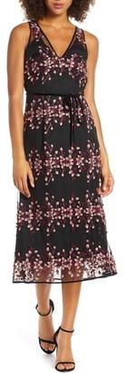 Foxiedox Ziva Floral Embroidered Midi Dress