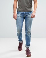 Edwin Ed-80 Slim Tapered Jeans Average Wash Abraisions