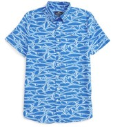 Vineyard Vines Boy's Brushed Marlin Whale Shirt