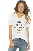 Peace Love World Today Is The Best Day Ever I am Bride V-Neck Tee