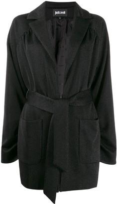 Just Cavalli tie-waist corduroy blazer