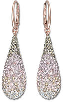 Swarovski Rose Gold and Crystal Abstract Nude Drop Earrings