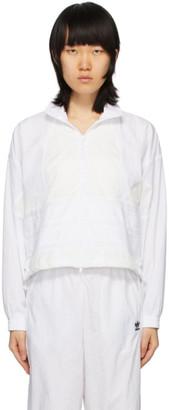 adidas White Large Logo Track Jacket