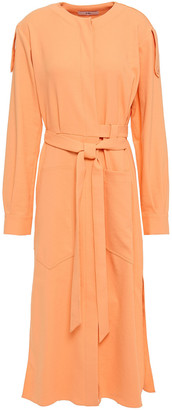 Tibi Belted Crepe Midi Dress