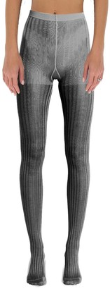 Prada Ribbed High Waist Tights