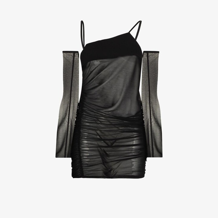 Thumbnail for your product : Supriya Lele Black Ruched Bra Top