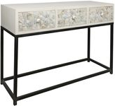 Casa Uno Console Tables Nacre Mother of Pearl Console Table