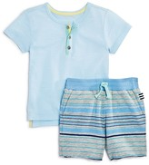 Splendid Infant Boys' Henley Top & Striped Shorts Set - Sizes 3-24 Months