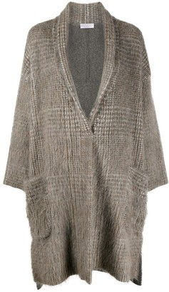 Brunello Cucinelli Check Knitted Cardigan
