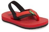 Sanuk Toddler Boy's 'Rootbeer Cozy' Lightweight Flip Flop Sandal