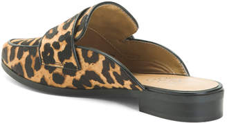 Haircalf Leopard Print Mules