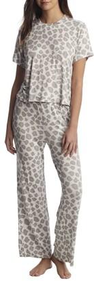 Honeydew Intimates All American Leopard Knit Pajama Set