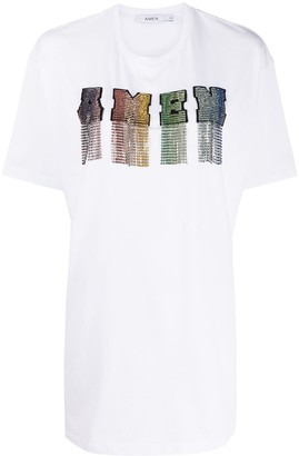 Amen rhinestone T-shirt