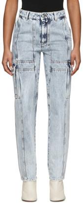MM6 MAISON MARGIELA Blue Bleached Cargo Jeans