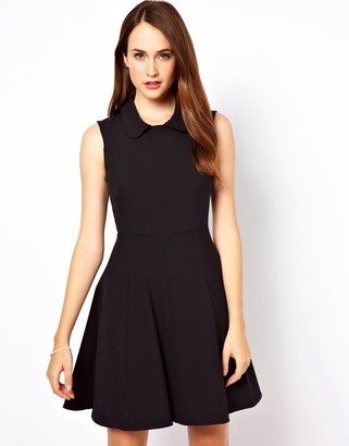 French Connection Skater Dress With Collar