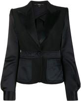 Gianfranco Ferre Pre Owned 1990s slim-fit peaked lapels jacket