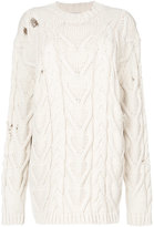 Palm Angels cable knit sweater - women - Cotton/Polyester - M