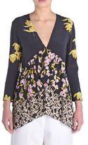 Marni Silk Floral-Print Blouse