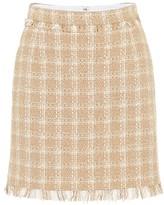 MSGM Cotton-blend tweed miniskirt