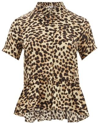 Arizona Love - Punchy Peplum-hem Leopard-print Shirt - Womens - Leopard