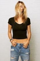 American Eagle Outfitters Don?t Ask Why Deep V-Neck T-Shirt