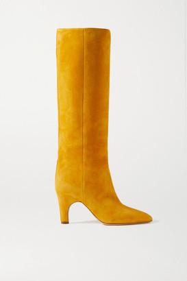 Gabriela Hearst Luther Suede Knee Boots - Saffron