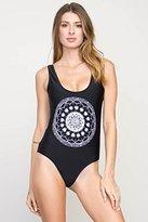 RVCA Women's Skull Mandala One Piece Swimsuit
