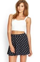 Forever 21 FOREVER 21+ Polka Dot Skater Skirt