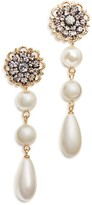 Aqua Isla Simulated Pearl Drop Earrings