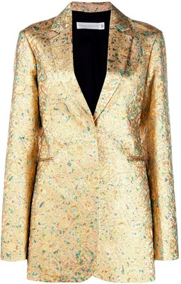 Victoria Beckham metallic fitted blazer