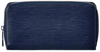 Louis Vuitton Navy Epi Leather Zippy Wallet