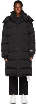 ADER error Black Down Long Puffer Jacket