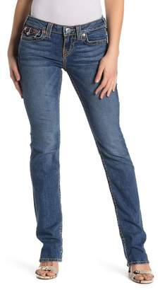 True Religion Billie Mid Rise Straight Leg Jeans